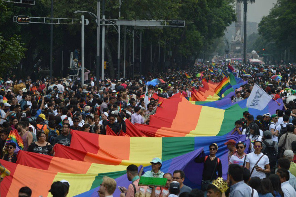 The annual Gay Pride Parade in Mexico City is a huge event every June
